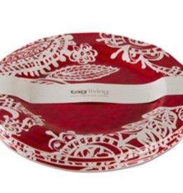 PAISLEY MELAMINE DINNER PLATE S4