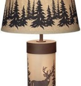 White Tail Deer Table Lamp