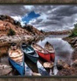 Canoe Break II 30x20 Canvas
