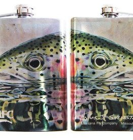 Stainless Steel Hip Flask - Sylvester's Rainbow Reflection 8oz