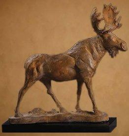 "Moose, Wood 26""x25""x17"""