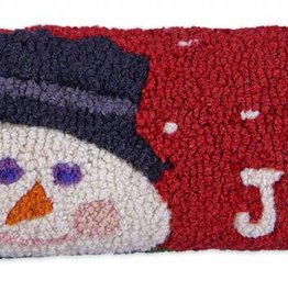 """Be Jolly 8""""x24"""" Hooked Pillow"""