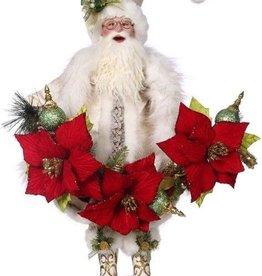 "Poinsettia Santa 25"""