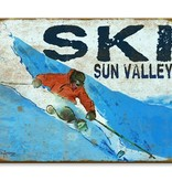 Ed Anderson Ski Sign - 23x31 wood