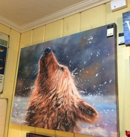 Brown Grizzly Bear (Shake It) 30x40 Canvas