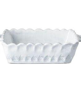 Incanto White Lace Small Square Baking Dish