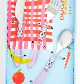 Clear Pink Child Flatware Set-3pc