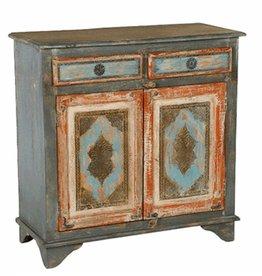 Painted 2 Drawer/2 Door Cabinet