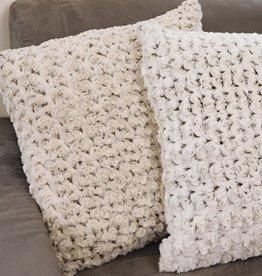 """Rose Petal Bronze Pillow 20x20"""""""