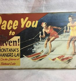 """Race You..."" Waterski sign, Wood 14x24"