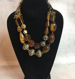 Short Chunky Double stranded Necklace