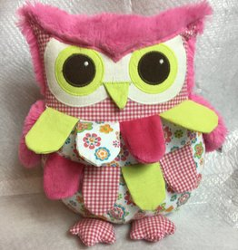 Pink and Green Owl Pillow