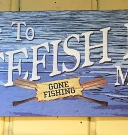 Welcome Gone Fishing -Whitefish Lake (Medium)