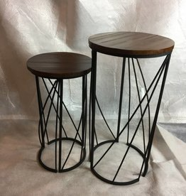 Metal&Fir Round Table S/2