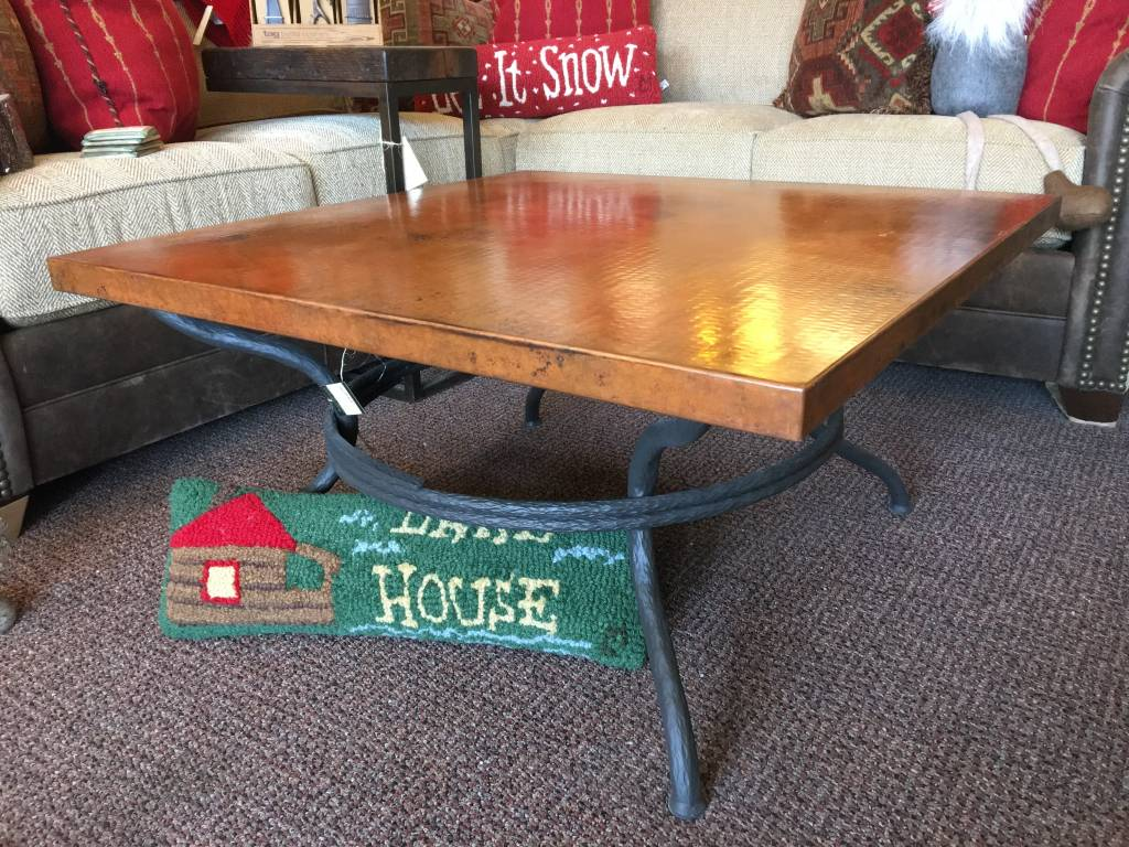 Copper Coffee Table 36 Square With Metal Base Beckman 39 S