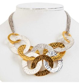 Antique Silver and Gold Linked Loop Necklace