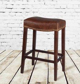 Saddle Bar Stool in Antique Saddle Leather
