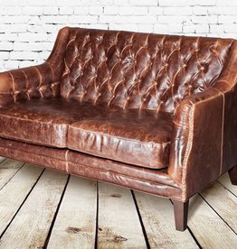 London Settee in Antique Saddle Leather