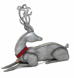 Homestead Christmas Laying Galvanized Reindeer