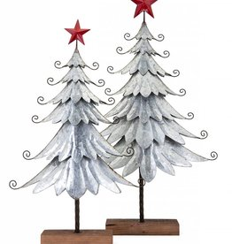 Homestead Christmas Galvanized Trees - Set of 2