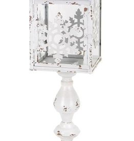Homestead Christmas Snowflake Small Floor Lantern