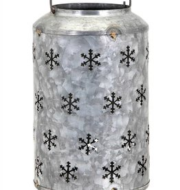 Homestead Christmas Medium Metal Snowflake Lantern