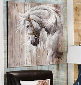 Horse Head Acrylic Paint Canvas Wall Decor