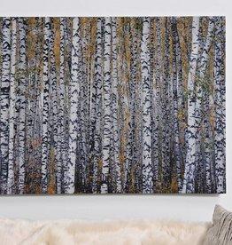 PaintedPrintonCanvasWallDecor,BirchTrees