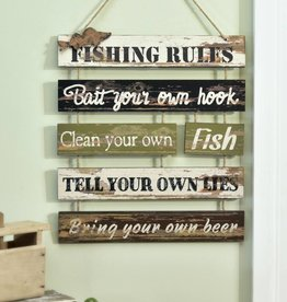 MDF Multi-Plaque Fishing Sentiment Design Wall Plaque