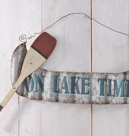 Metal Canoe Design Wall Sign