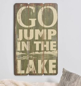 MDF Wall Sign, Jump in the Lake