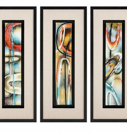 Maheloas Framed Glass Wall Decor - Ast 3