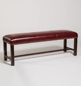 "Cloister 60"" Bench in Rouge Bordeaux"