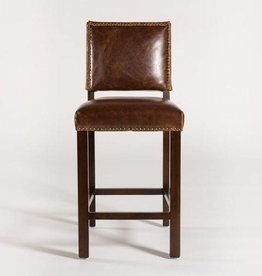 Weston Barstool in Antique Saddle Leather