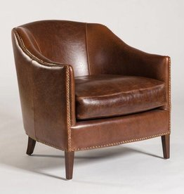 Madison Occasional Chair in Antique Saddle Leather
