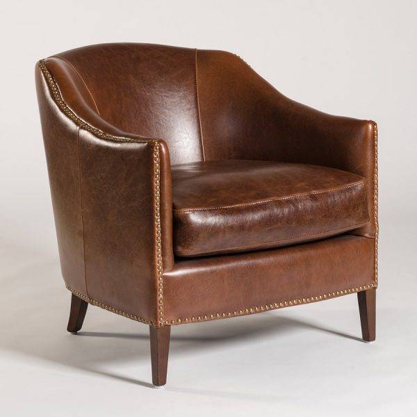 Madison Occasional Chair in Antique Saddle Leather ... - Occasional Chairs - Beckman's