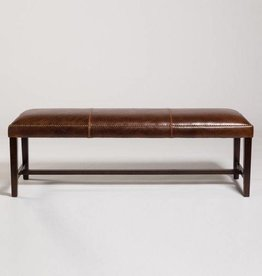 "48"" Weston bench in antique saddle Leather"