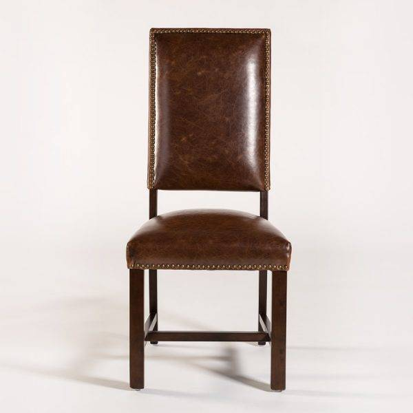 Weston Side Chair in Antique Saddle Leather