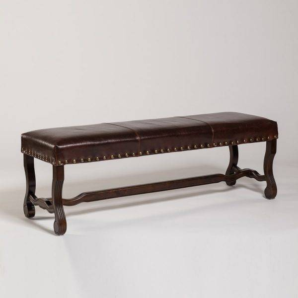 Monastery Bench in Old Tannery Leather