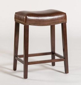 Saddle Counter Stool in Antique Saddle and Dark Walnut