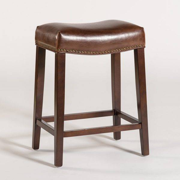 Leather Saddle Barstool Beckman S