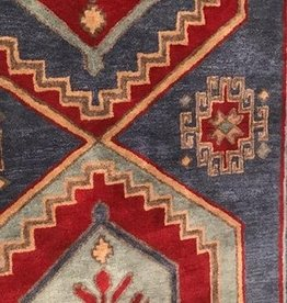 9 x 12 Bijou Blue/Rumba Red Area Rug
