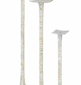 NK Anson Mother of Pearl Candleholders - Set of 3