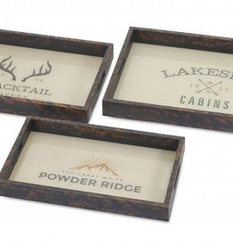 Blacktail Trays - Set of 3