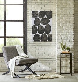 Painted Puzzle Gray Gel Coat Printed Canvas