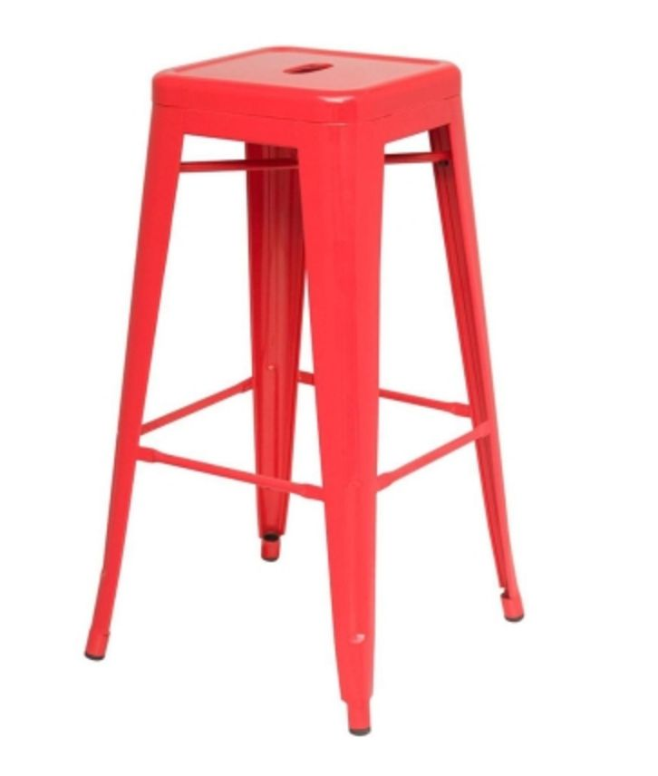metropolis metal backless counter stool red