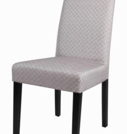 Hartford Fabric Chair Black Legs, Basket Weave Gray