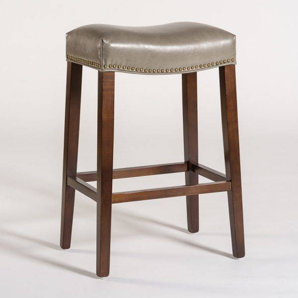 Saddle Counter Stool In London Fog Beckman S