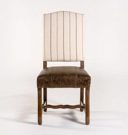 Seville Dining Chair in Vintage Cigar & Revere Charcoal, Rubbed Espresso