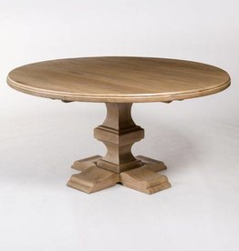 "Summerton 60"" Round Dining Table in Weathered Beechwood"